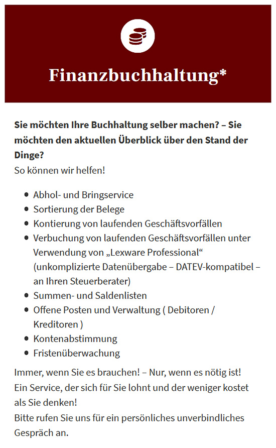 Lohn Buchhaltungsservice in  Kleinheubach, Bürgstadt, Miltenberg, Weilbach, Großheubach, Rüdenau, Laudenbach oder Röllbach, Klingenberg (Main), Amorbach